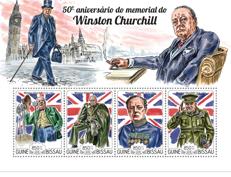 Winston Churchill - Issue of Guinée-Bissau postage stamps