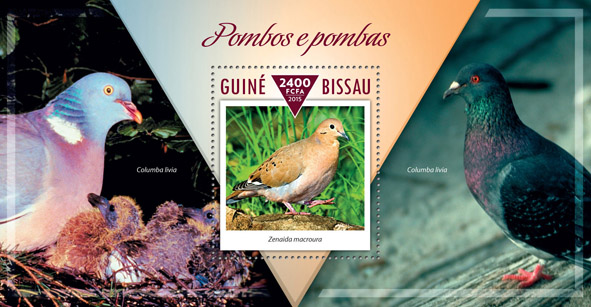 Pigeons and doves - Issue of Guinée-Bissau postage stamps