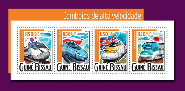 Fast trains - Issue of Guinée-Bissau postage stamps