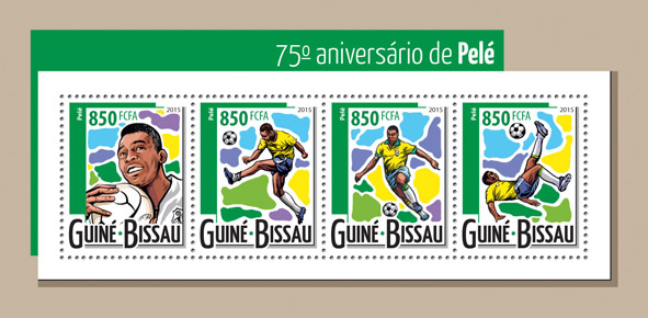 Pelé - Issue of Guinée-Bissau postage stamps