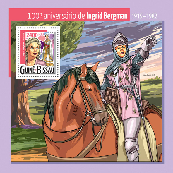 Ingrid Bergman - Issue of Guinée-Bissau postage stamps