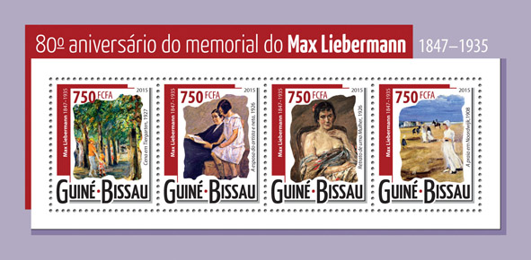 Max Liebermann - Issue of Guinée-Bissau postage stamps