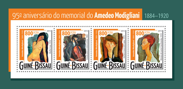 Amedeo Modigliani  - Issue of Guinée-Bissau postage stamps