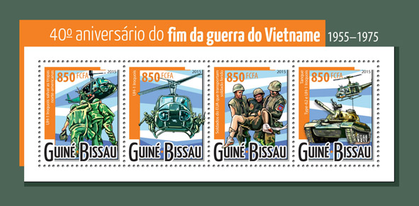 Vietnam war - Issue of Guinée-Bissau postage stamps