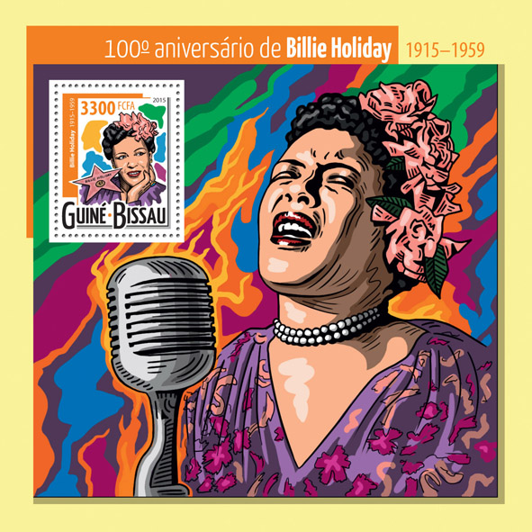 Billie Holiday - Issue of Guinée-Bissau postage stamps