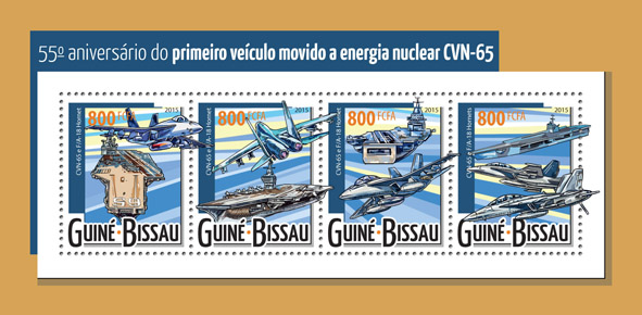 Nuclear-powered aircraft - Issue of Guinée-Bissau postage stamps