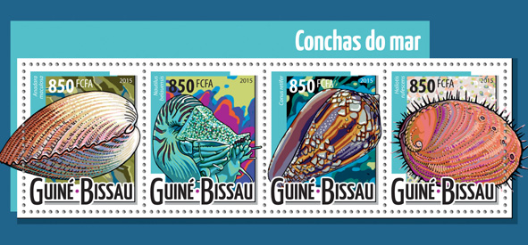 Shells - Issue of Guinée-Bissau postage stamps