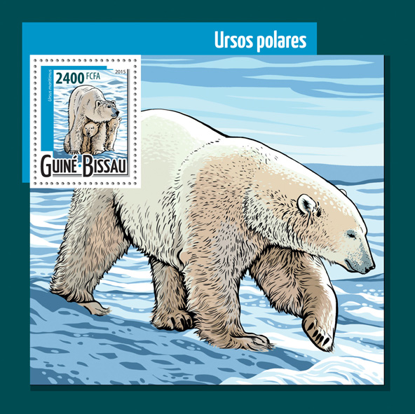 Polar bears - Issue of Guinée-Bissau postage stamps