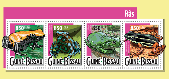 Frogs - Issue of Guinée-Bissau postage stamps