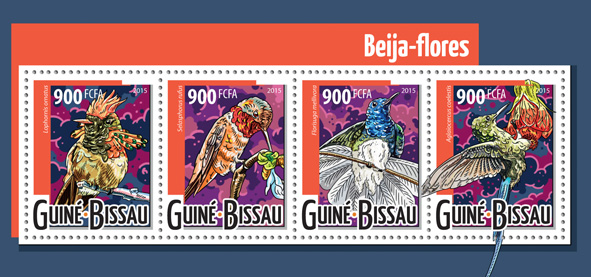 Hummingbirds - Issue of Guinée-Bissau postage stamps