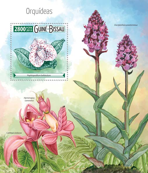 Orchids - Issue of Guinée-Bissau postage stamps