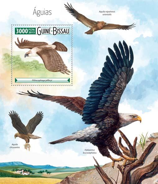 Eagles - Issue of Guinée-Bissau postage stamps