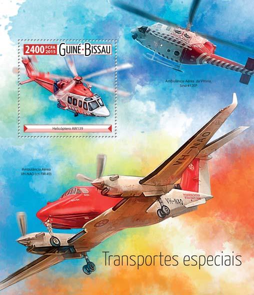 Special transport  - Issue of Guinée-Bissau postage stamps