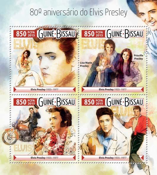 Elvis Presley - Issue of Guinée-Bissau postage stamps