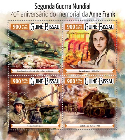 Second World War  - Issue of Guinée-Bissau postage stamps