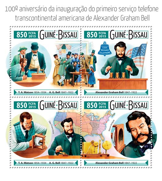 Graham Bell - Issue of Guinée-Bissau postage stamps