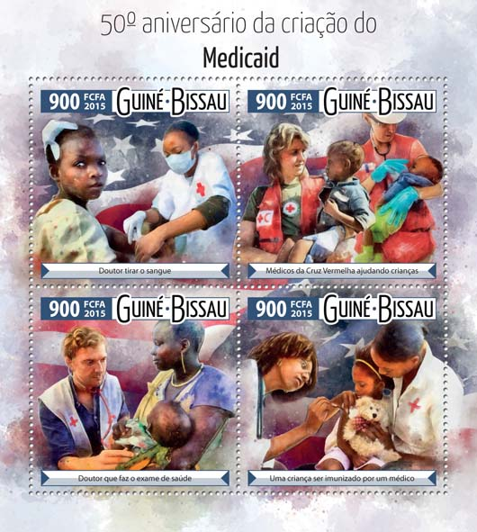 Medicine - Issue of Guinée-Bissau postage stamps