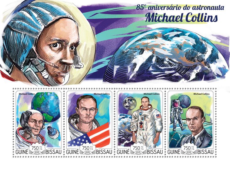 Michael Collins - Issue of Guinée-Bissau postage stamps