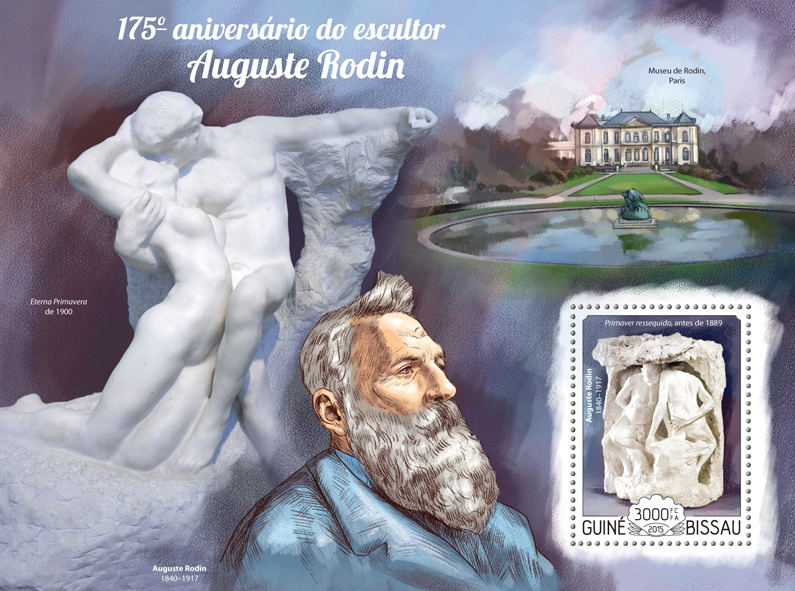 Auguste Rodin - Issue of Guinée-Bissau postage stamps