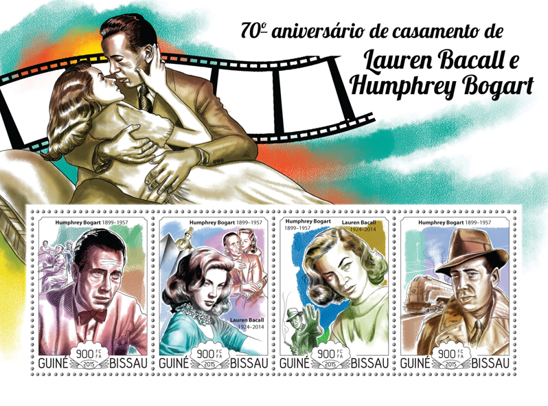 H. Bogart and L. Bacall - Issue of Guinée-Bissau postage stamps