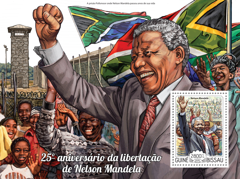 Mandela - Issue of Guinée-Bissau postage stamps
