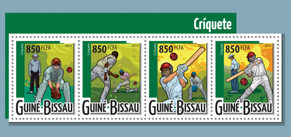 Cricket - Issue of Guinée-Bissau postage stamps