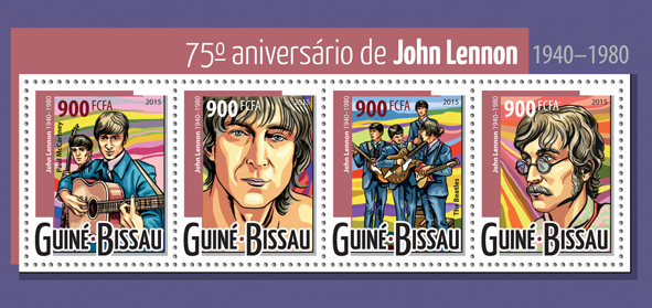John Lennon - Issue of Guinée-Bissau postage stamps