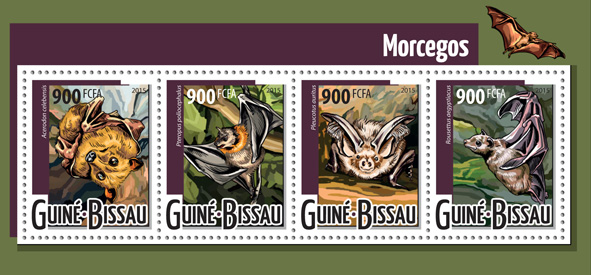 Bats - Issue of Guinée-Bissau postage stamps