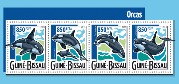 Orcas - Issue of Guinée-Bissau postage stamps