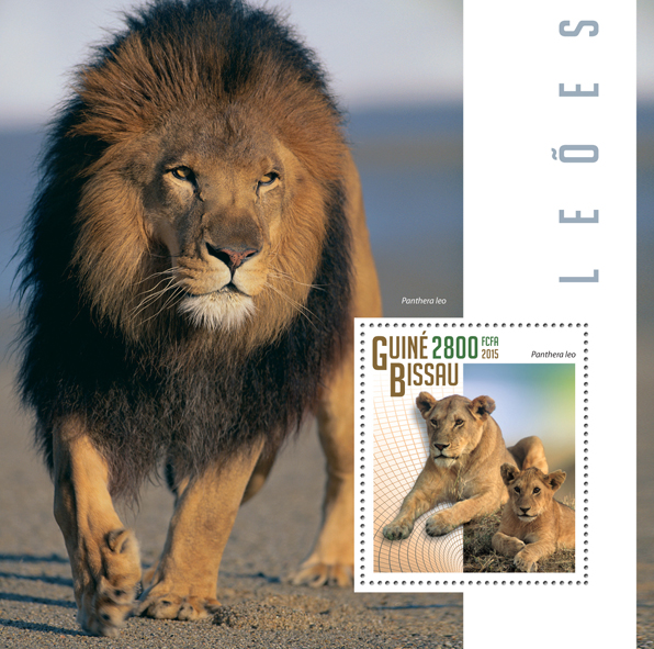 Lions - Issue of Guinée-Bissau postage stamps