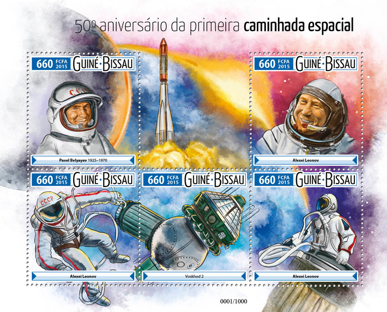 Space - Issue of Guinée-Bissau postage stamps