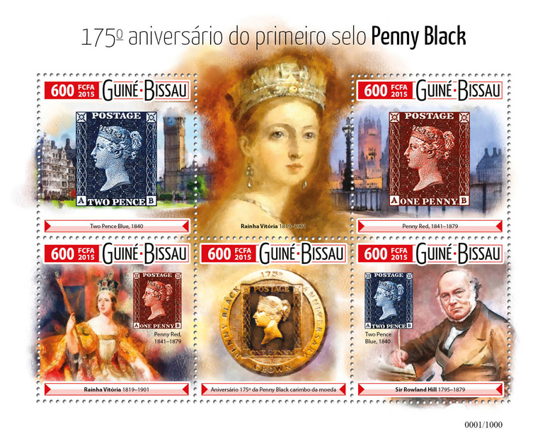 Penny Black stamp - Issue of Guinée-Bissau postage stamps