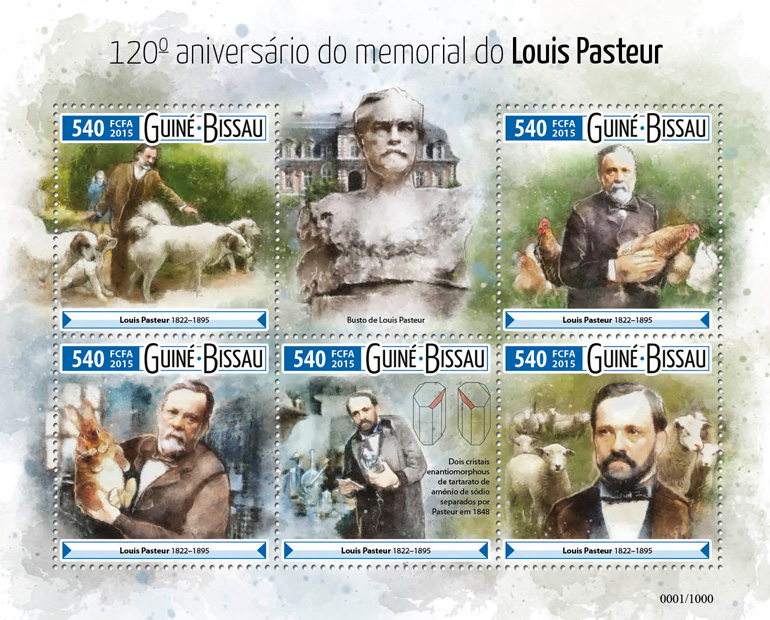 Louis Pasteur - Issue of Guinée-Bissau postage stamps