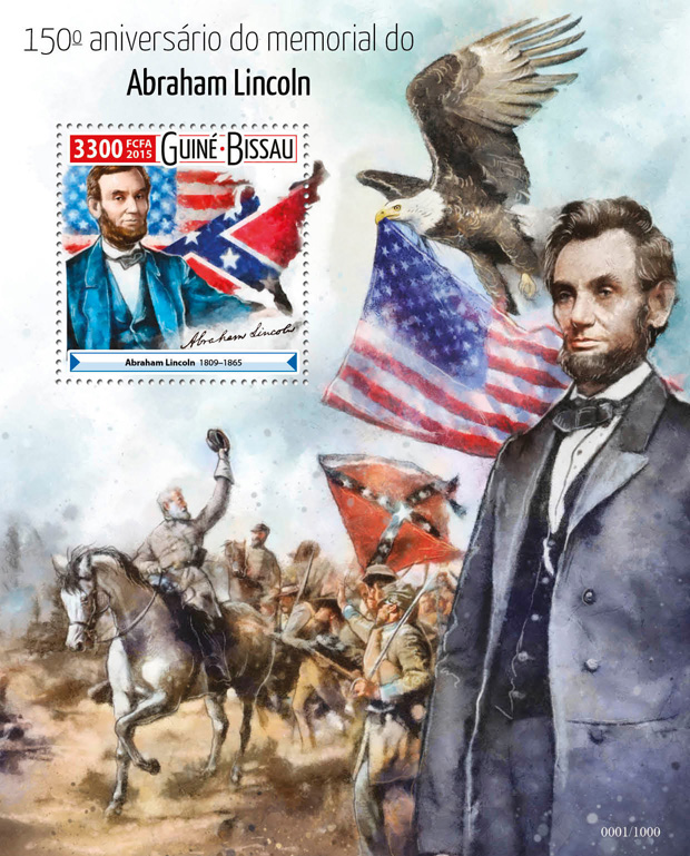 Abraham Lincoln - Issue of Guinée-Bissau postage stamps