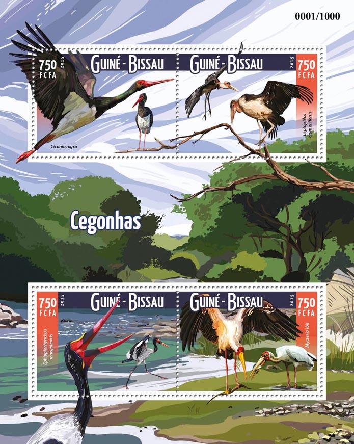 Storks - Issue of Guinée-Bissau postage stamps