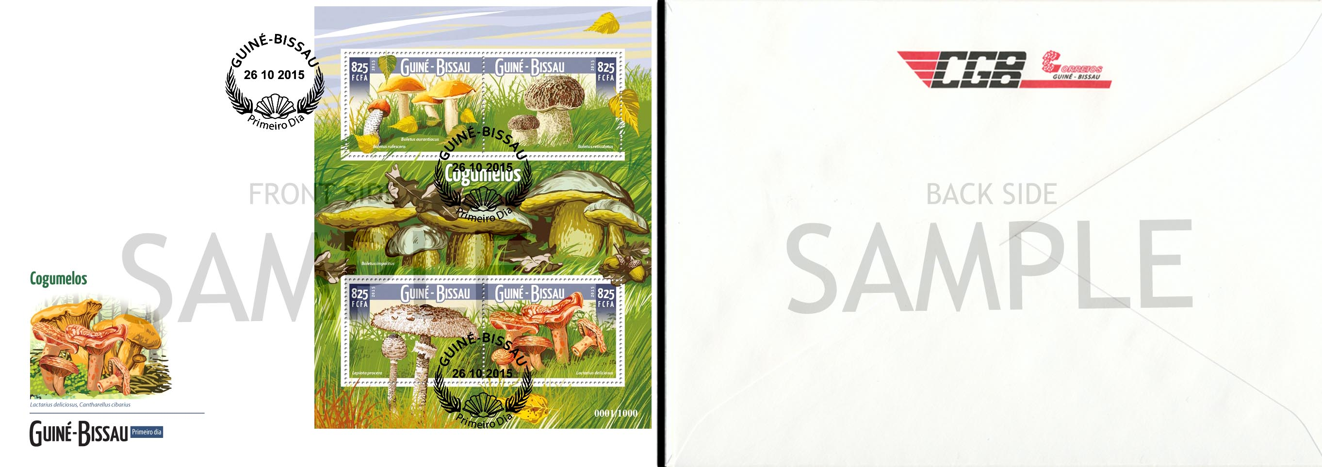 FDC Sample - Issue of Guinée-Bissau postage stamps