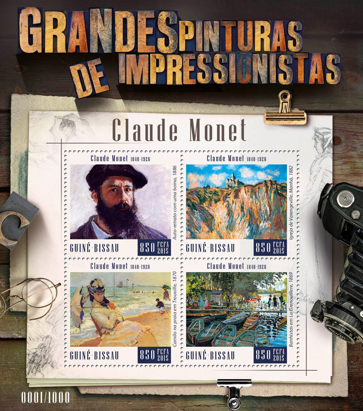 Claude Monet - Issue of Guinée-Bissau postage stamps