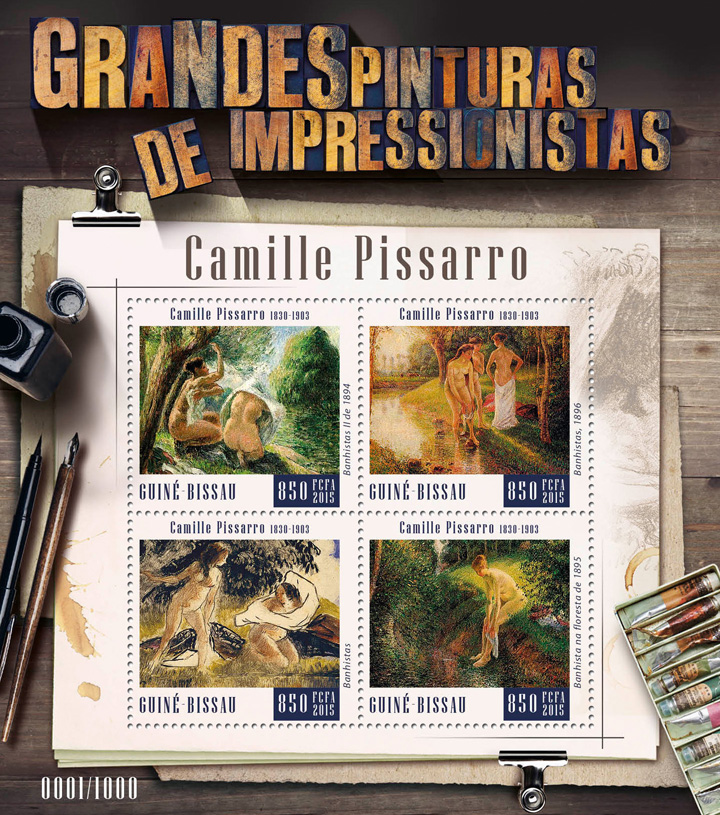 Camille Pissaro - Issue of Guinée-Bissau postage stamps