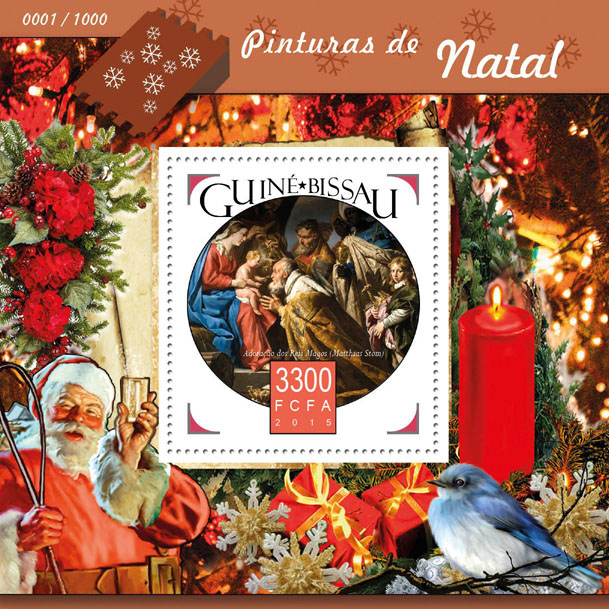 Christmas paintings - Issue of Guinée-Bissau postage stamps