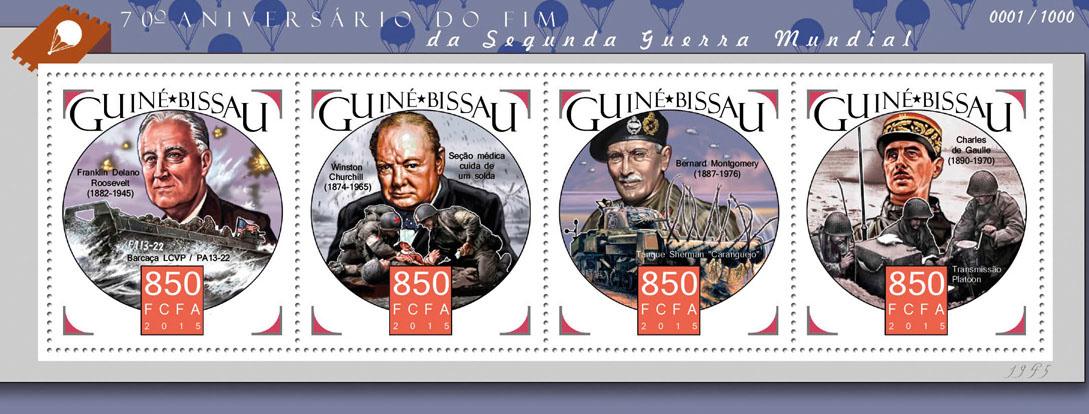 World war II - Issue of Guinée-Bissau postage stamps
