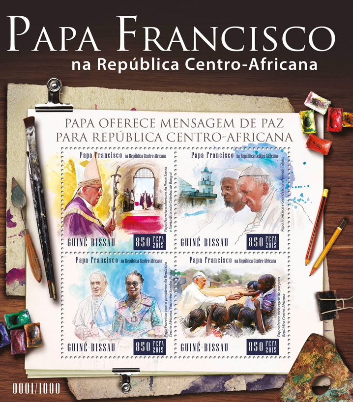 Pope Francis - Issue of Guinée-Bissau postage stamps