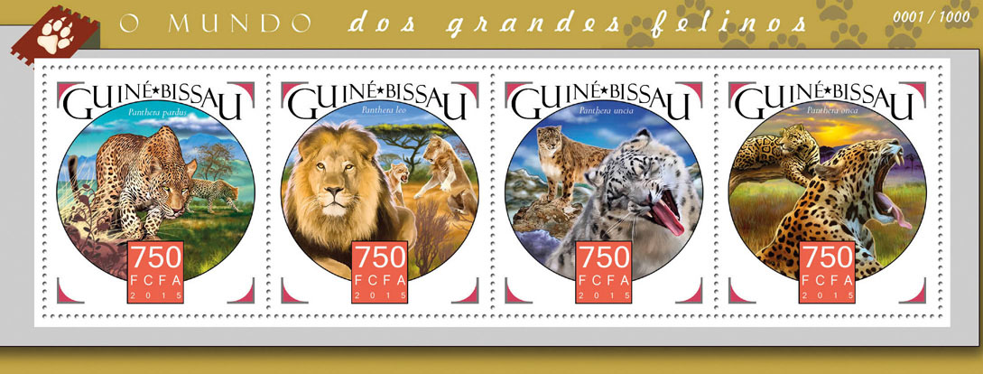 Big cats - Issue of Guinée-Bissau postage stamps