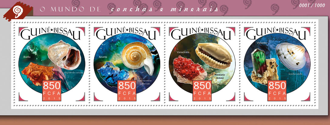 Shells and minerals - Issue of Guinée-Bissau postage stamps