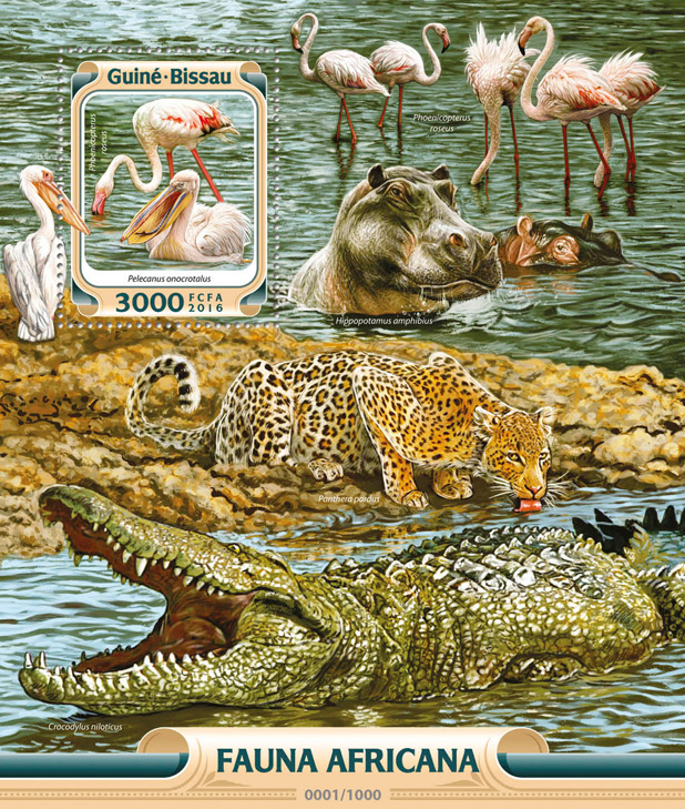 African fauna - Issue of Guinée-Bissau postage stamps