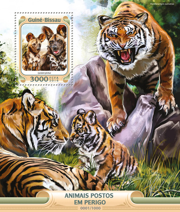 Endangered species - Issue of Guinée-Bissau postage stamps