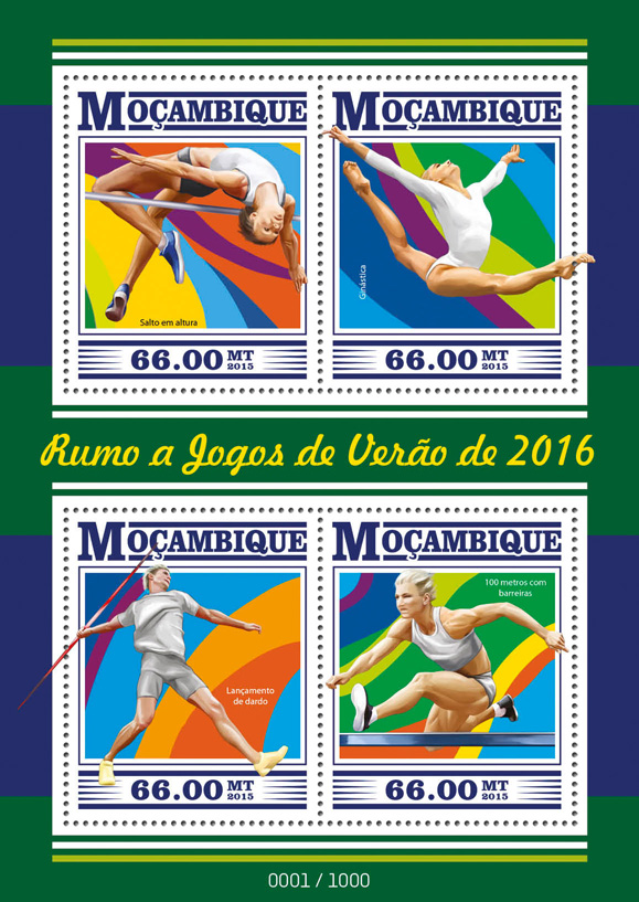 Summer Games 2016 - Issue of Guinée-Bissau postage stamps