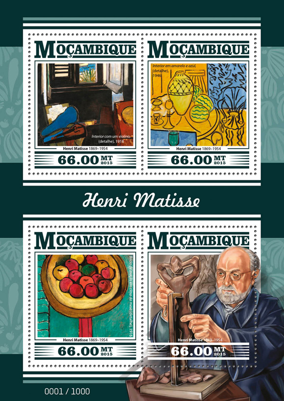 Henri Matisse - Issue of Guinée-Bissau postage stamps