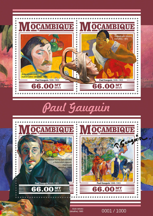 Paul Gauguin - Issue of Guinée-Bissau postage stamps