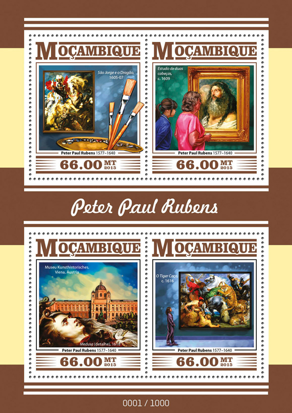 Peter Paul Rubens - Issue of Guinée-Bissau postage stamps