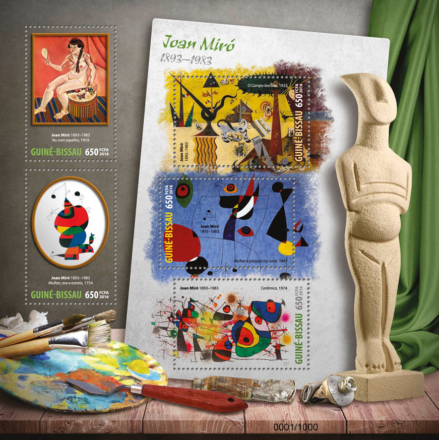 Joan Miro - Issue of Guinée-Bissau postage stamps